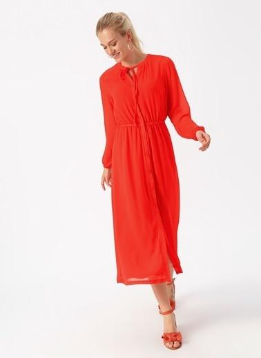 Only Only Kırmızı Uzun Elbise Kırmızı